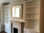 Alcove Unit and Bookcase with adjustable Shelving in Twickenham 19/8/16